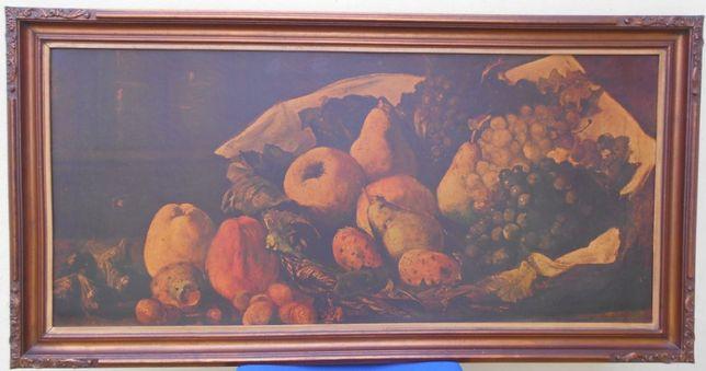 Quadro Cesto de Fruta do pintor catalão Ramón Martí i Alsina (reprod.)