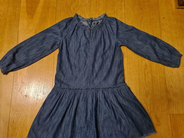 Sukienka denim GAP dla dziewczynki