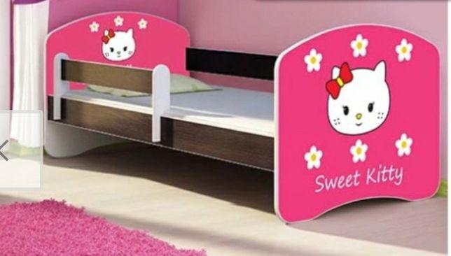 Lozko dziecie 140x70cm Hello Kitty wenge +materac