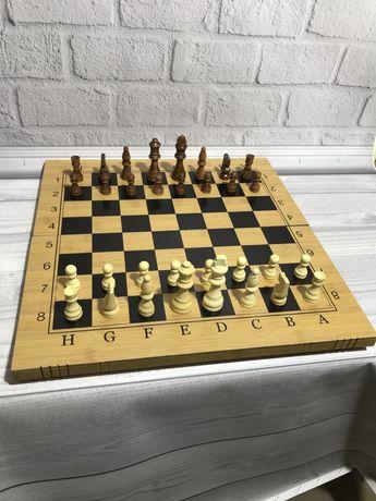 Новые. Большие деревянные Шахматы. Нарды 3в1 50х50см.