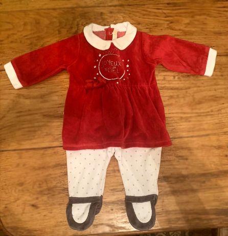 Боди платье для новорожденной девочки Франция GEMO