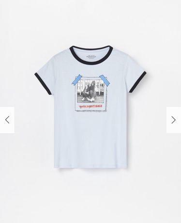Reserved новая футболка девочке р. 110 с крутым принтом! Мягкая и прия