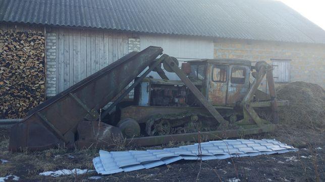 Продам трактор, т74, тросова лопата