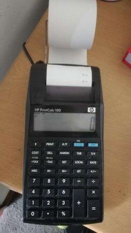 Calculadora impressora portatil HP pilhas e tomada
