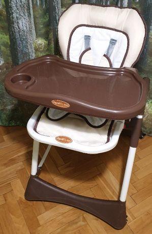 LONGLIFE fotelik, krzesełko do karmienia, tapicerka 4 koła