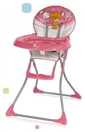 Стульчик для кормления Lorelli Jolly pink teddy bear для девочки