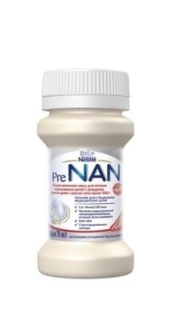 Жидкая молочная смесь Nestle PRE NAN Stage 0+, 70 мл