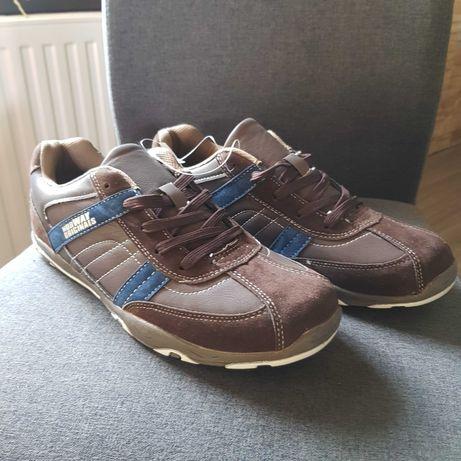 Nowe buty męskie z eko skóry + zamsz rozmiar 44 WYPRZEDAŻ 50ZŁ