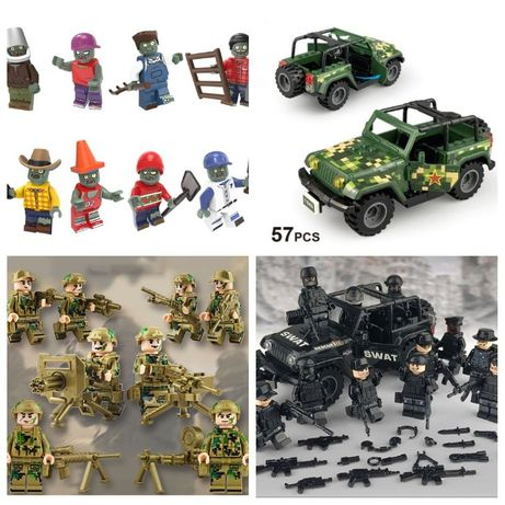 Фигурки, человечки, спанч боб, спецназ, солдаты, зомби, машина лего