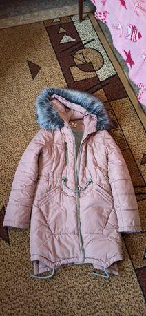 Продам пальто для девочки лет 7-10