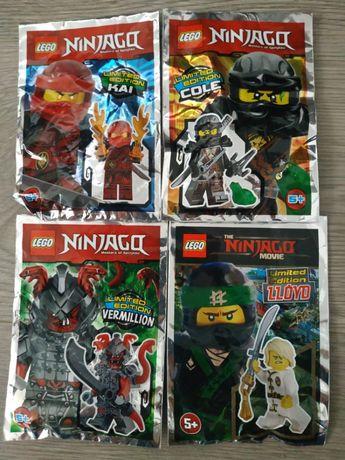 LEGO NINJAGO Figurki Kai Lloyd Cole Vermillion NOWE Limited Edition