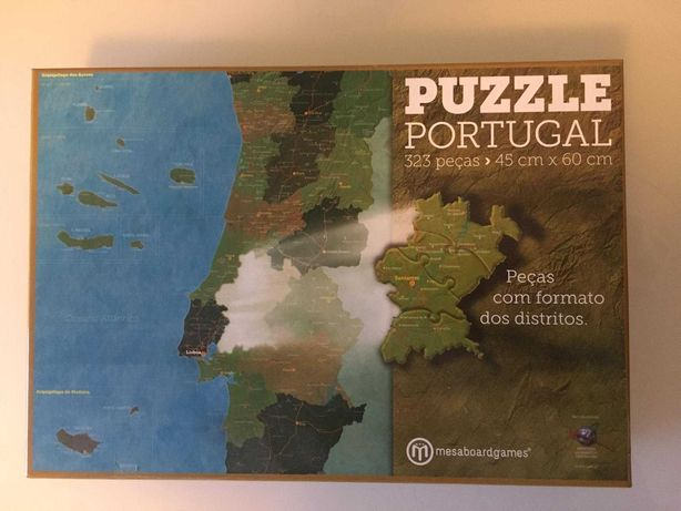 Puzzle 323 peças- Mapa de Portugal Continental e Ilhas- COMO NOVO
