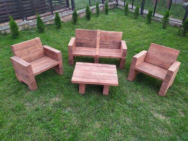 Komplet Mebli ogrodowych / tarasowych z drewna . . .