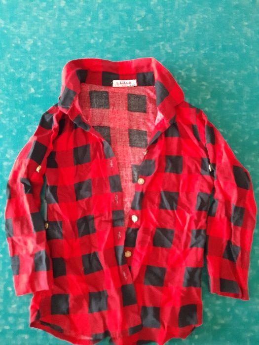 продам рубашку в клеточку на девочку Измаил - изображение 1