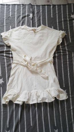 biała prześliczna sukienka H&M rozmiar 42