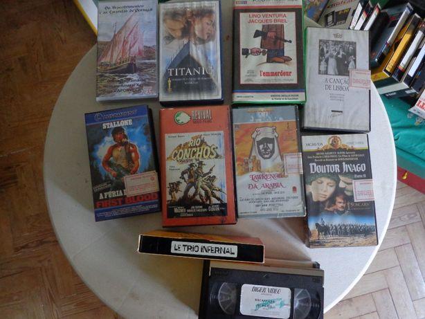 Casetes video VHS varios cassetes