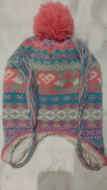 Zimowa czapka dziewczęca R. 122-134 cm