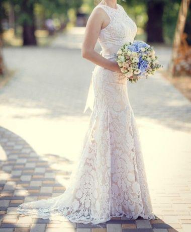 Свадебное платье, силуэт-рыбка