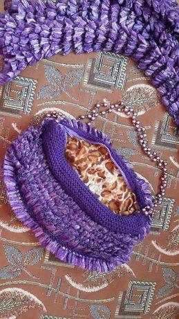 Сумка и шарф набор Handmade новые