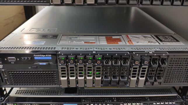 Сервер Dell r720 8x2.5 + 4x2.5 NVMe SSD /128 Gb ECC 1833 MHz