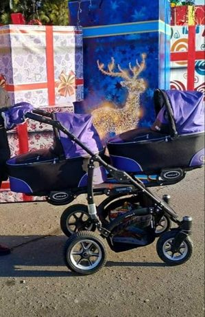 Универсальная коляска для двойняшек 2 в 1 BABYACTIVE TWINNI