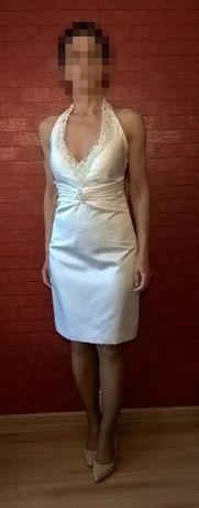 Krótka sukienka ślubna - S (36)