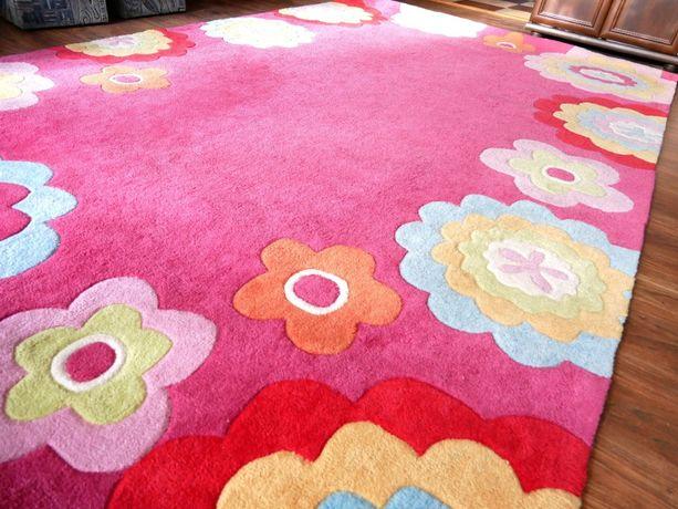 Dywan Akrylowy Podlasiak Różowy idealny do pokoju dziecka 200x300cm