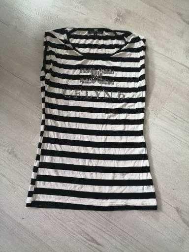 Bluzka bez rękawów w paski firmy Elisabetta Franchi