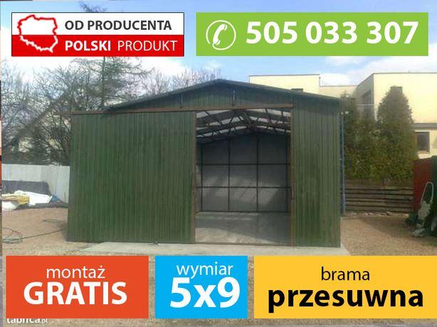 Garaż dwuspadowy 5x9m - Garaże Pająk