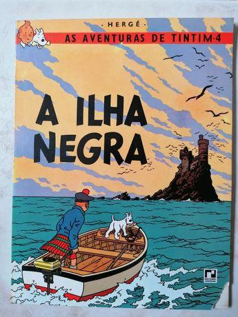 """Livro Tintim """"A Ilha Negra"""""""