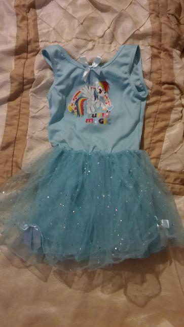 My Little Pony sukienka z cekinami 3-4 lata