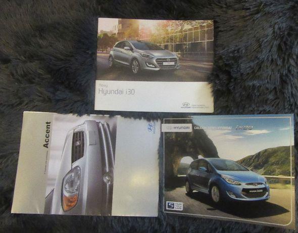Prospekty foldery samochodowe Hyundai Accent ix20 i30 różne do wyboru
