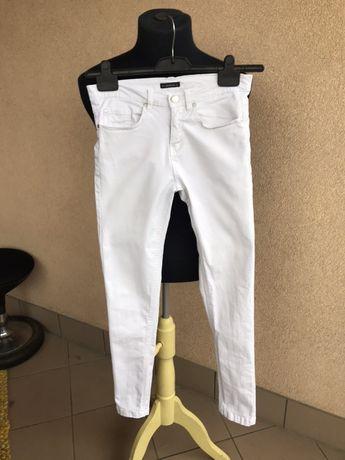 Medicine białe spodnie długie 34 xs proste obcisłe slim fit rurki nowe
