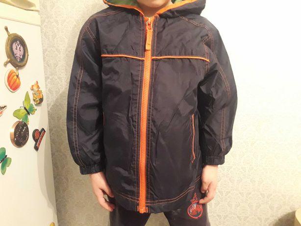 Бу ветровка, плащевка куртка 3-4года 98-104см