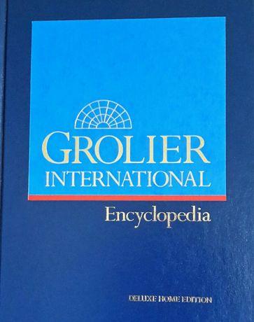 Vendo enciclopedia Grolier em inglês, completa, 20 volumes