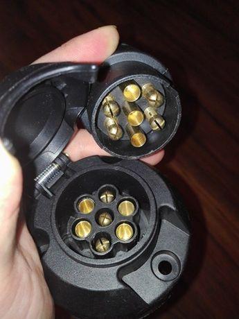 Wtyczka i gniazdo elektryczne przyczepki, przyczepy wtyk 12V przyczepa