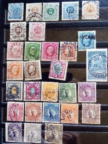 Продам марки Швеции.