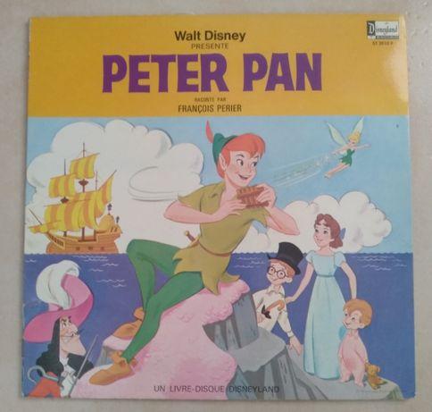 LP + livro do Peter Pan da Walt Disney anos 60