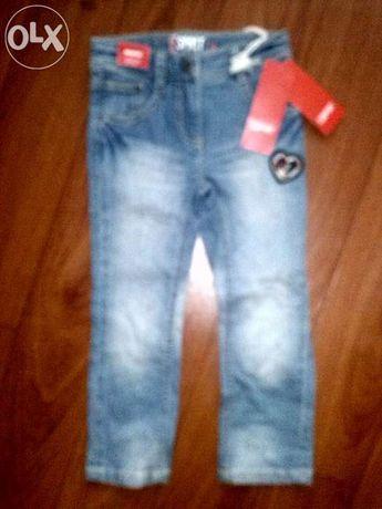 Nowe jeansy rurki dziecięce ESPRIT dziewczęce 104cm spodnie jeansowe