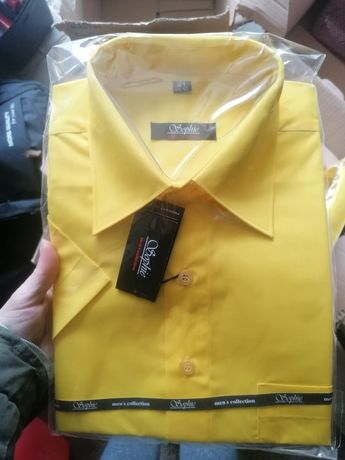Koszula żółta męska prosto od producenta