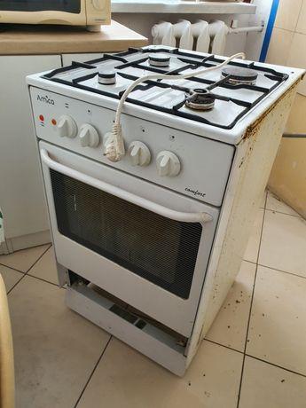 Kuchenka gazowa, palniki gazowe, piekarnik elektryczny REZ.