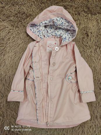 Плащ рожевий куртка весняна на 1-2 роки