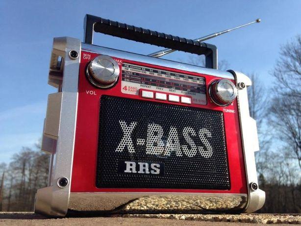 Radio przenosne budowlane turystyczne Boombox glosnik odtwarzacz MP3