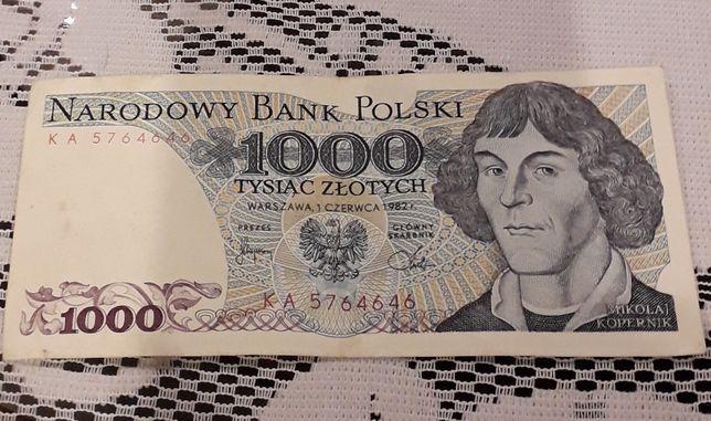 Banknot 1000 Kopernik seria KA