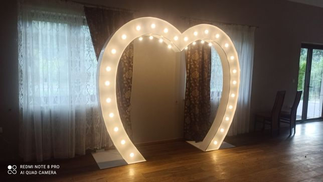 Napis Miłość duże serce Led Wesele Zaręczyny