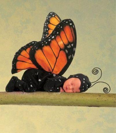 Коллекционная  кукла-младенец Anne Geddes  Анны Геддес бабочка мотылек