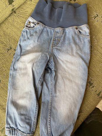 Джинсы H&M с мягким поясом 1-2 года