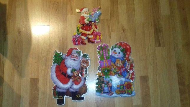 Ozdoby świąteczne na ścianę meble okno
