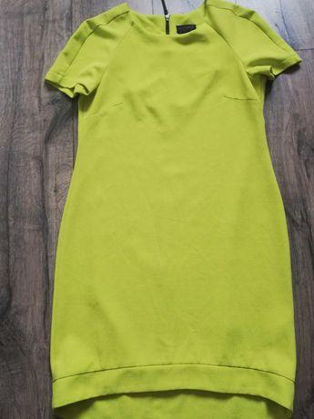 Sukienka limonkowa