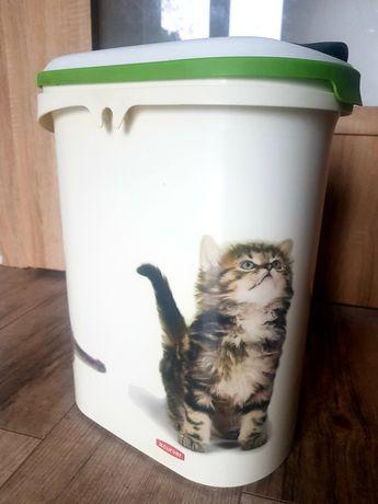 Pojemnik na żwirek lub karmę dla kota